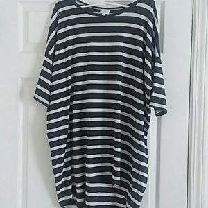 **5 for $25** Charcoal and white stripes LLR Irma